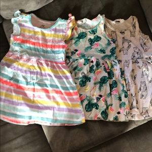 3 pack of H&M play dresses, size 2y